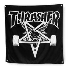 """THRASHER Magazine Skategoat Black Cloth Wall Banner 36"""" x 36"""""""