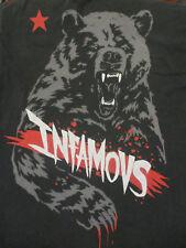 M black INFAMOUS brand t-shirt - BEAR design