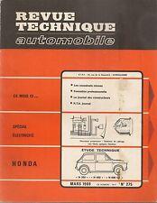REVUE TECHNIQUE AUTOMOBILE 275 RTA 1969 HONDA N360 N600 N600 GT N 360 N 600