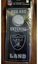 Oakland Raiders Ultra Depth 3D Door Hanger Enter Sign NIP