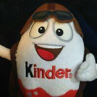 "Kinder Egg Plush Chocolate Bag Surprise Toy Kids Mascot Aviator Pilot Guy 7"""