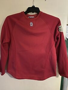 St. Louis Cardinals 2011 World Series Batting Practice Pullover Majestic Youth L