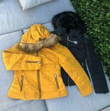 NEW ZARA Duck Down Anorak Puffer Jacket Coat XS S M L XL Navy Mustard