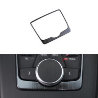 Stainless Steel Gear Shift Box Panel Frame Cover Trim Black For Audi A4 B9 17-19