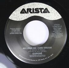 Rock Unplayed 45 Exposã© - As Long As I Can Dream / Face To Face On Arista