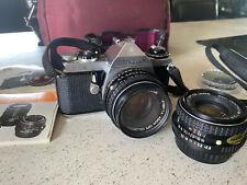 ASAHI PENTAX ME Camera with EXT Lens/Case/Instruction book
