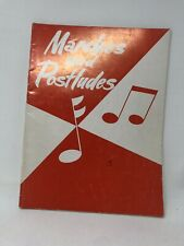 Marches and Postludes Organ Sheet Music 1958 Vintage