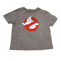 Ghostbusters T Shirt Kids Toddler Sz 4T Gray Heather Red Short Sleeve Crew Neck