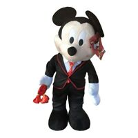 """Disney 27"""" Lover Mickey Mouse Plush Greeter Valentines Day With Flowers Bouquet"""