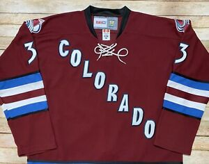 Vtg 2001 COLORADO AVALANCHE Jersey PATRICK ROY Third Alternate Maroon NHL CCM 56