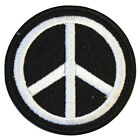 Peace Symbol Embroidered Iron On Patch