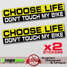CHOOSE LIFE MY BIKE  decal sticker vinyl funny bumper  JDM 4X4 motorbike racing