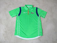 Fila Polo Shirt Adult Small Green Blue Dri Fit Sony Open Tennis Rugby Casual Men