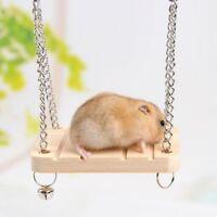 USA Pet Bird Hamster Mouse Gerbil Rat Parrot Cage Hammock Swing Toys Hanging Toy