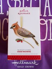 HALLMARK 2013 CEDAR WAXWING BEAUTY OF BIRDS MIB
