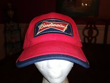 Budweiser Ball Cap in Red Black Here's to the Heroes One Size 100% Cotton New