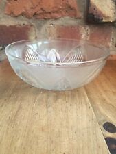 Vintage Frosted Glass Sherdley Fruit Dish Nordic Pattern