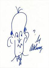 Art Carney Autographed Signed Hand Drawn Original Self Portrait Sketch