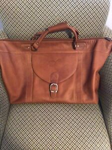 links kings leather duffel travel bag shooting star logo embossed