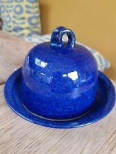 Amberley blue  Pottery Garlic Baker