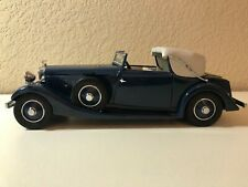 1:24 DANBURY MINT 1934 HISPANO SUIZA J12 BLUE WITH LIGHT GREY TOP FRESHLY WAXED