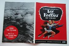Broadway Souve 00006000 nir Program For Shipstads & Johnson Ice Vollies Of 1943 +