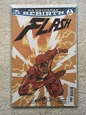 DC Universe Rebirth The Flash #1 Johnson Variant Signed
