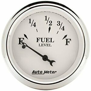 Auto Meter Old Tyme White 2 1/16in Fuel Pre 65 GM