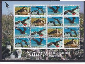 NAURU MNH STAMP SHEET 2008 WWF GREATER FRIGATE BIRDS SG 681-684