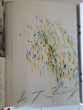 JEAN TINGUELY META BOOK  SIGNED ORIGINAL DRAWING  RARE EDITION