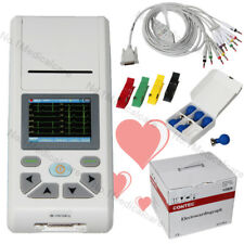 Digital 1 Channel 12 lead ECG EKG+usb pc software, Electrocardiograph, Touch
