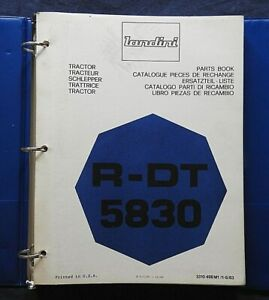 Genuine Landini R-DT 5830 TRACTOR PARTS CATALOG MANUAL W/BINDER 170+ pgs NICE