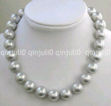 """Charming!10mm Wonderful gray shell pearl necklace18"""" JN2260"""
