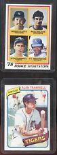 Paul Molitor/Alan Trammel 1978 Topps Rookie Baseball Card VG+ + 1980 Trammel EX+