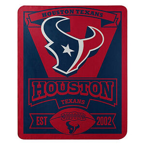 "Houston Texans Licensed ""Marque"" Fleece Throw Blanket  50'' X 60''"