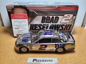 2018 Brad Keselowski #2 Miller Lite Color Chrome Auto 1:24 NASCAR Action MIB