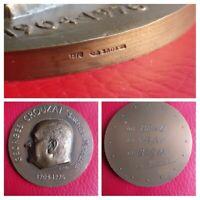 Medalla Bronce De Georges Crouzat (1904-1976) Por R. Joly Escultor Paris