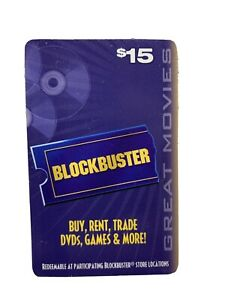 BLOCKBUSTER VIDEO $15 GIFT CARD MOVIE REELS No Value On Card