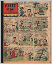 1935/36 (ref B/I 1635) RC BD BETTY STAR ( BETTY BOOP ) 1page 26x36 cm