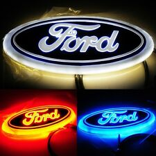 4D Car LED Logo Tail Light Sticker Rear Badge Emblems Lamp For Ford Focus Mondeo
