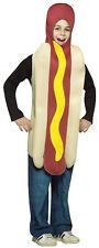 Hot Dog Child Costume 7-10 Food Oversized Bun Tunic Mustard Funny Halloween