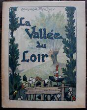 Edmond ROCHER Vallée du Loir le Vendômois 1/10 Japon dédicacé au poète René GHIL