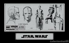 CharacterKey 2008 Acme Archives Exclusive: Star Wars - C-3PO Sketchplate, NEW