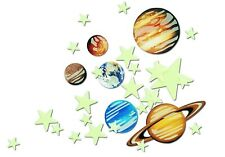Glow In The Dark Stars And Planets Wall Ceiling Sticky Decor Fluorescent Decals