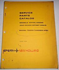 New Holland OD100 OD200 OD300 TD200 Offset & Tandem Disk Parts Catalog Manual NH
