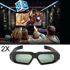 2x 3D Glasses Active Blue-tooth for Epson Projector Sharp Sony Panasonic 3D TV