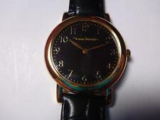 WATCH YVES BERTELIN MONTRE acier cuir noir black PC38052 luxury water resistant