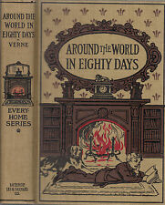 Arund the World In Eighty Days. by Jules Verne. Boston. (1876) Vintage