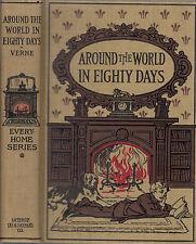 Arund the World In Eighty Days. by Jules Verne. Boston. (1876) Vintage