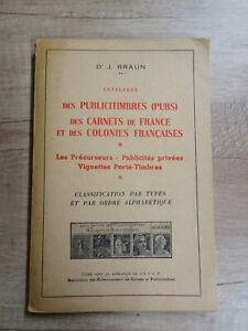 CATALOGUE PUBLICITIMBRES DES CARNETS FRANCE ET COLONIES - ACCP 1958